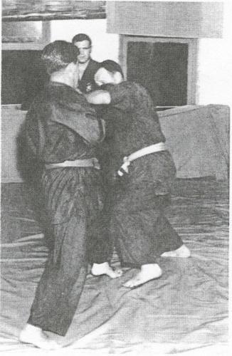 Active kumite Koeppel supervising